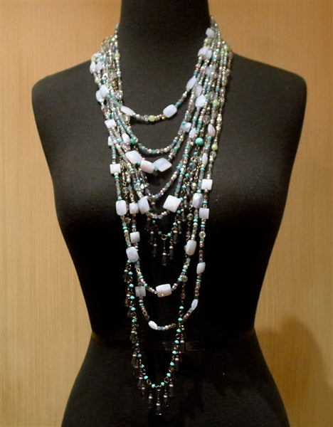 Erickson Beamon Multi Strand Blue/Purple Necklace