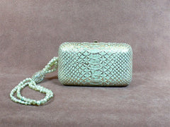 Shana Green Python and Pearl handbag