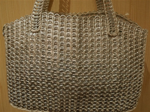 DaLaLeo Borsa Shopping Pop Top Handbag