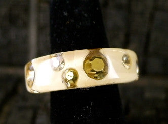 Luc Kieffer Cream Resin Bubble Ring