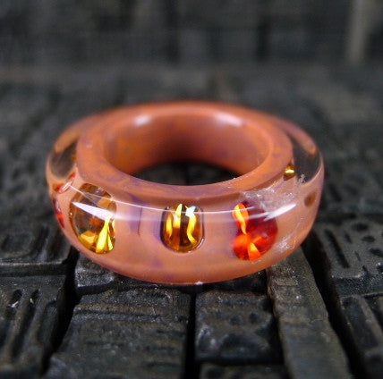 Luc Kieffer Apricot Resin Bubble Ring