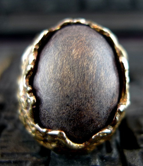 Alexis Bittar Sculpture Wood Ring
