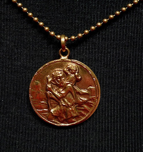 Virgin Saints and Angles St. Christopher Necklace