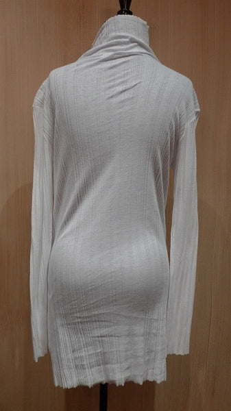 Jarbo Long Tunic Turtleneck Shirt in White