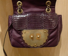 Kotur Lok Ku Quilted Plum Bag with Asian Lock