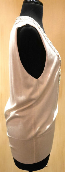 Tabla Mother of Pearl Deep V-Neck Cashmere Sweater