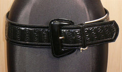 Abaco Black Patent Leather Belt