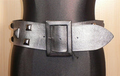 Orciani Studded Metallic Wide Belt