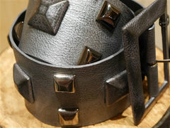Orciani Grey Studded Wide Belt