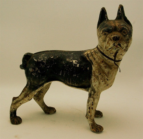 Antique Cast Iron French Bulldog Doorstop