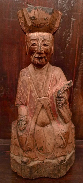 Antique Chinese Icon Temple Figure