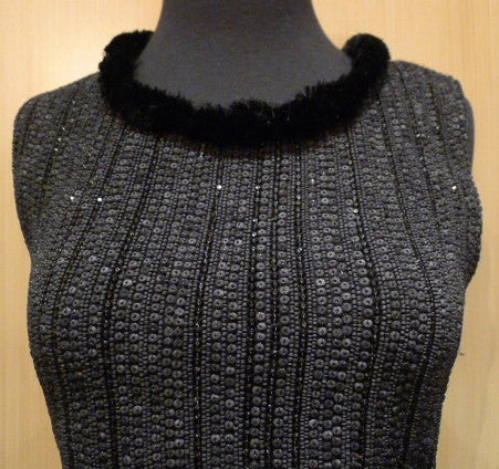 Armand Diradourian Beaded and Sequined Cashmere Sleeveless Sweater