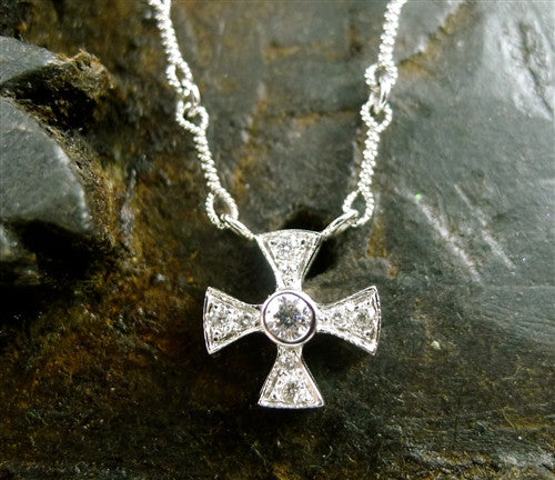 Jude frances 18k white gold and diamond maltese cross necklace jude frances 18k white gold and diamond maltese cross necklace mozeypictures