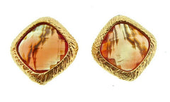 Dominique Cohen 18K Yellow Gold and Apricot Tourmaline Clip Earrings