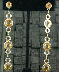 Dominique Cohen 18K Yellow Gold and Citrine Capri Duster Earrings