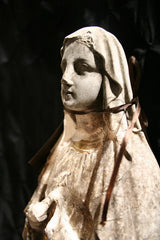 Vintage Plaster Madonna with Rosary