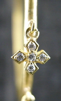 Loree Rodkin Diamond Disco Hoop Earrings with Maltese Crosses in 18K Yellow Gold