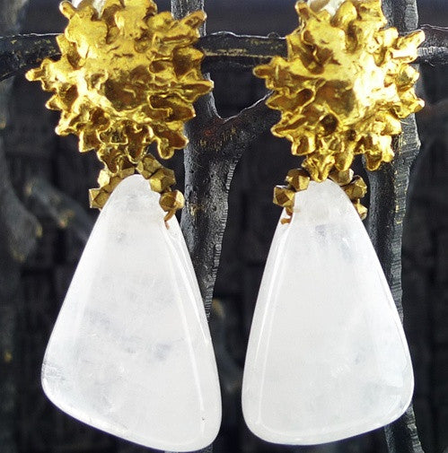 Cipango Parisian Design Clip Quartz Earrings