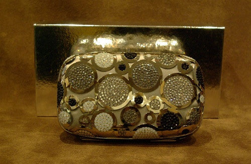 "Shana of London ""Pop"" Clutch Purse in Silver Metallic"