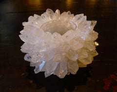 McCoy Clear Quartz Sea Urchin Votive Candleholder