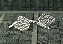 Lauren Wolf Silver Stingray Cufflinks