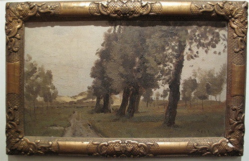 De Orange Lou, Antique Landscape Painting by Jacob Huybrecht Hollestelle
