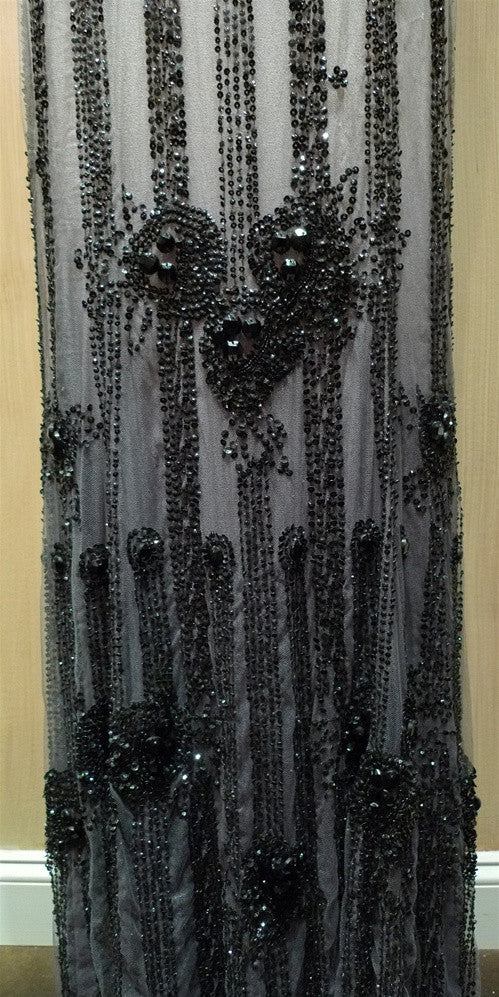 Jenny Packham Art Deco Black/Ivory Beaded Gown
