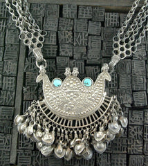 Old Tribal Necklace of Silver and Turquoise