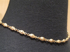 "Loree Rodkin 16"" Oval Cross Chain Necklace in 18K Yellow Gold"
