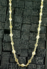 Loree Rodkin 18K Yellow Gold Cross Chain