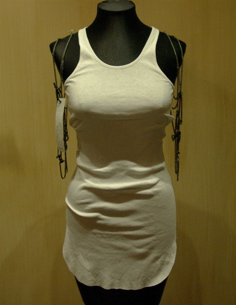 Bliss Lau Leather and Chain Metal Vest Metal Vest
