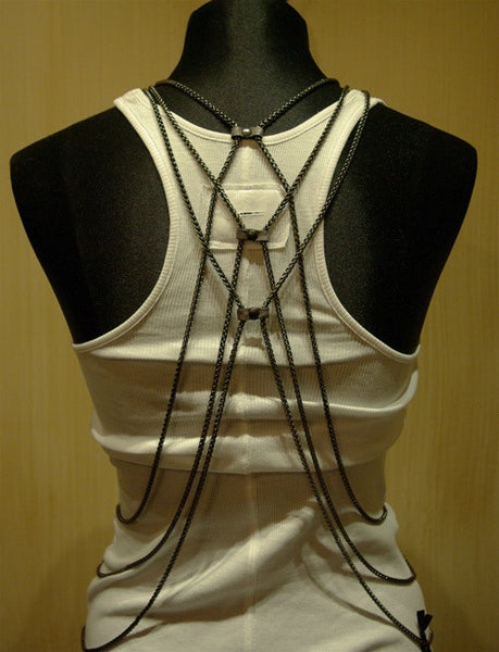 Bliss Lau Diamond Chain Metal Vest