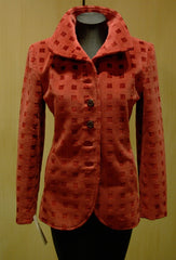 Quadrille Custom Velvet Hacking Jacket in Crimson
