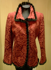 Quadrille Custom Hacking Jacket with Mink Trim