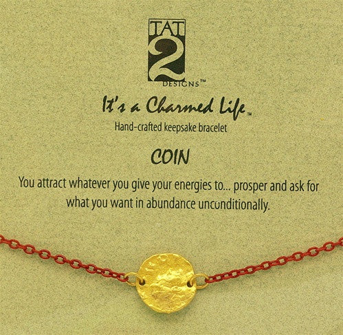 "Tat2 ""It's a Charmed Life"" Bracelet ""Coin"""