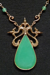 One-of-a-Kind Chrysophrase and 18K Yellow Gold Necklace
