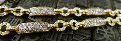 Robert Wander Chocolate and White Diamond Link  Necklace in 18K Yellow Gold