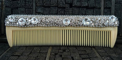 Cloutier Signed Swarovski Crystal Encrusted Comb