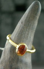 Kimarie Spesartite Garnet Stacking Ring in 22K Yellow Gold