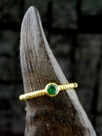 Kimarie Emerald Stacking Ring in 22K Yellow Gold