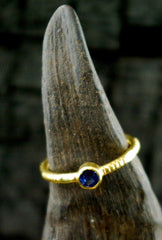 Kimarie Blue Sapphire Stacking Ring in 22K Yellow Gold