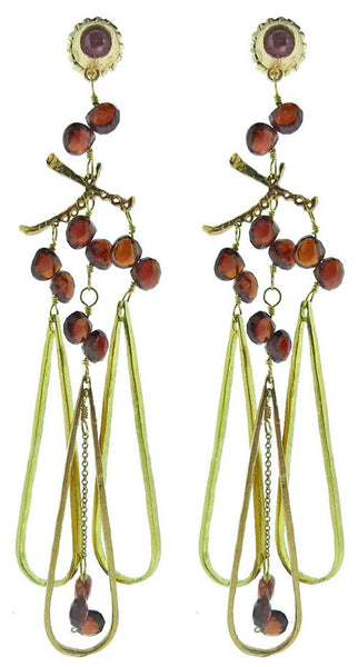Dominique Cohen 18K and Rubellite Tourmaline Tranquility Earrings
