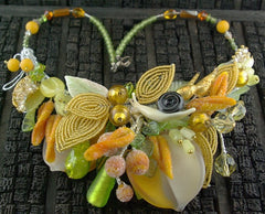 One of a Kind Venetian Glass and Bead Necklace