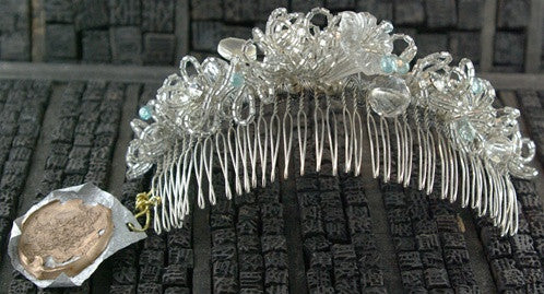 LA Vintage Crystal and Beaded Hair Comb- One-of-a-Kind