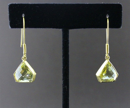 Susan Gordon Lemon Topaz Earrings 22k Gold
