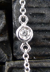 Jude Frances 18K White Gold Diamond Chain Necklace