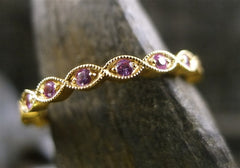 Beverly K 18K Rose Gold and Pink Sapphire Eternity Band Ring