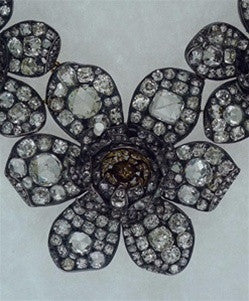 Lorraine Schwartz/Fred Leighton Important Antique Georgian Diamond Flower Necklace 18K and Silver
