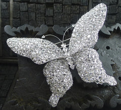 Lorraine Schwartz Large Diamond Butterfly Brooch in 18K White Gold