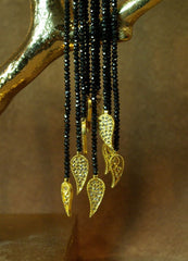 Coomi Diamond and Black Onyx Lariat Necklace in 20K Gold